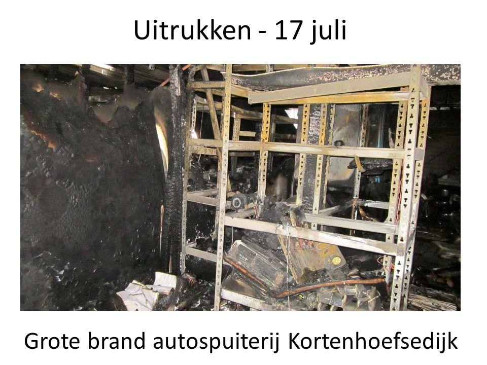 Grote brand autospuiterij Kortenhoefsedijk