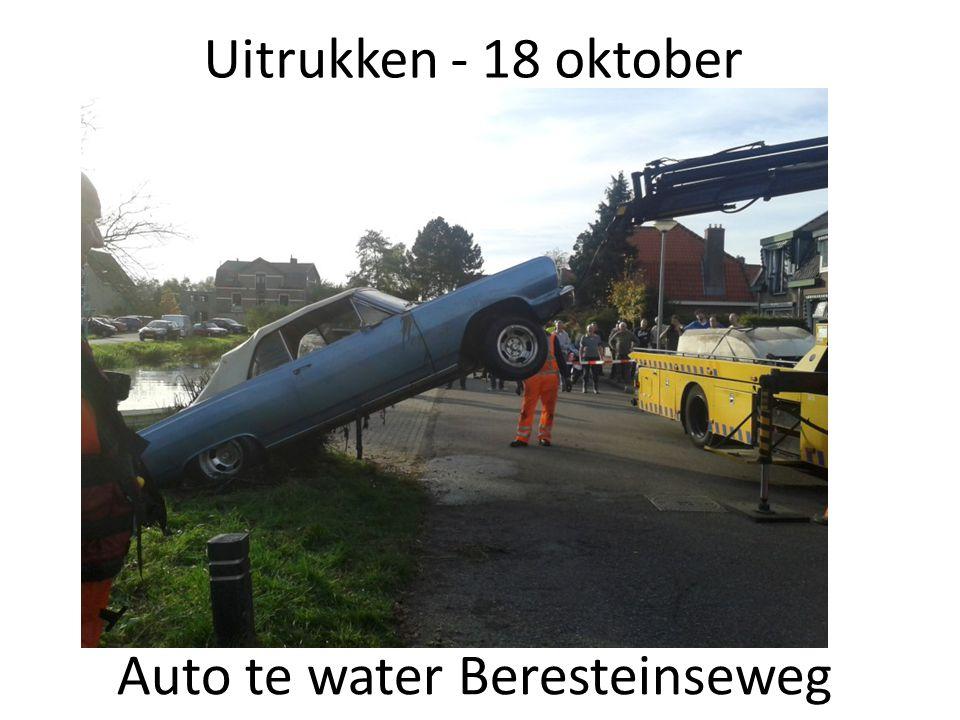 Auto te water Beresteinseweg