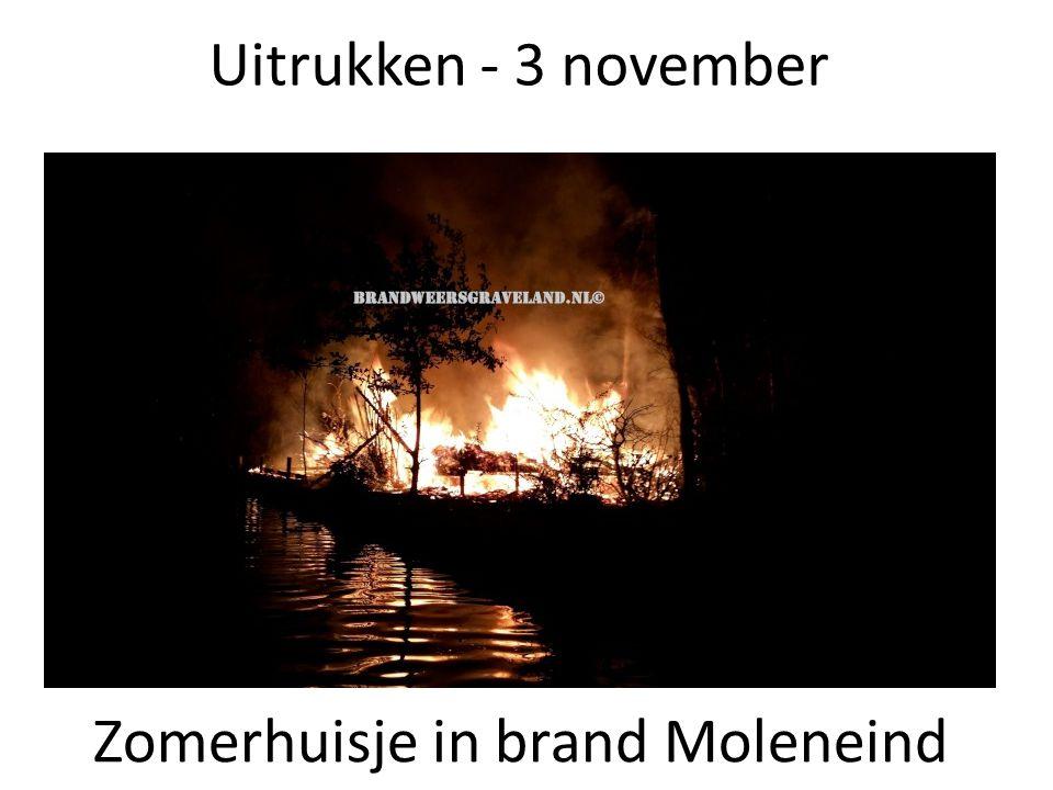 Zomerhuisje in brand Moleneind