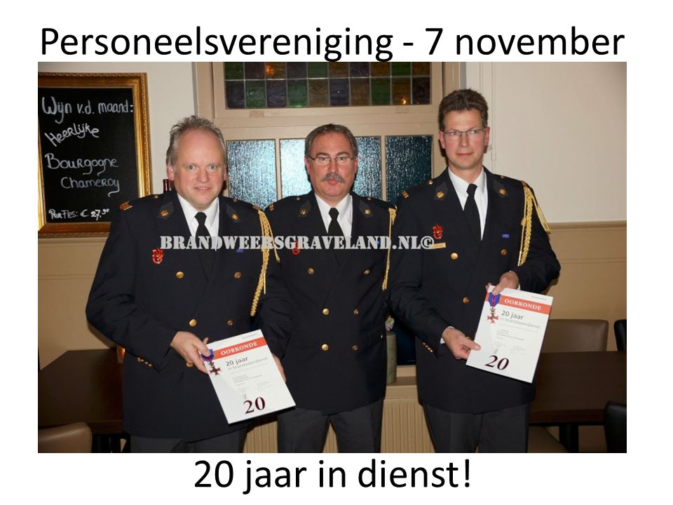 Personeelsvereniging - 7 november