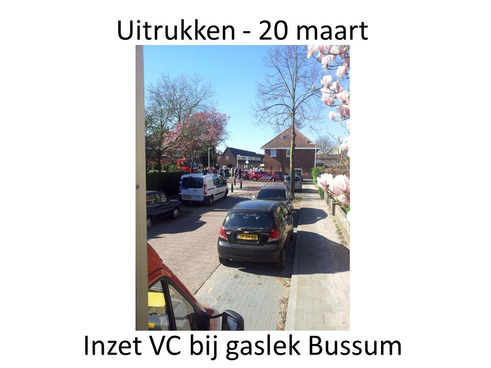 Inzet VC bij gaslek Bussum