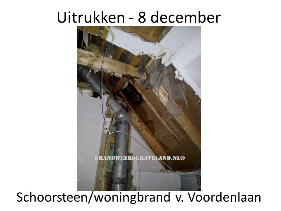 Schoorsteen/woningbrand v. Voordenlaan