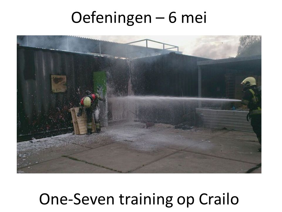 One-Seven training op Crailo