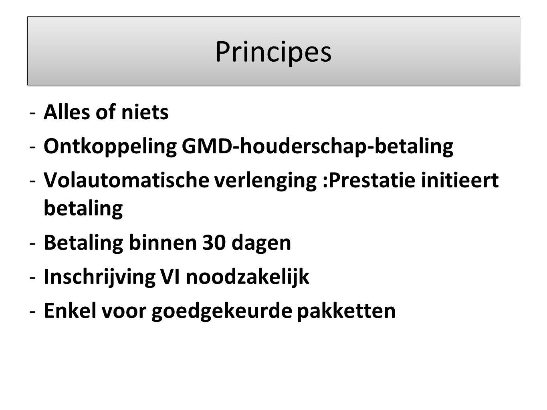 Principes Alles of niets Ontkoppeling GMD-houderschap-betaling