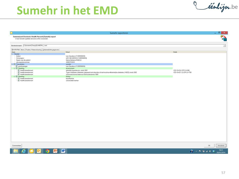 Sumehr in het EMD Informatie-uitwisseling tussen artsen