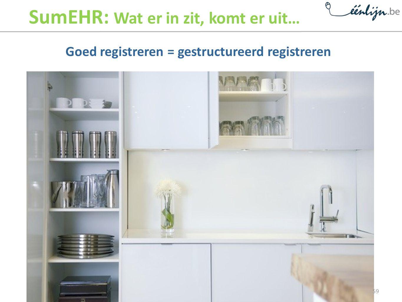 Goed registreren = gestructureerd registreren