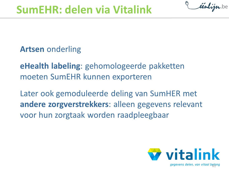 SumEHR: delen via Vitalink