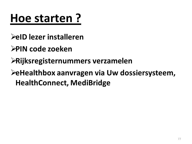 Hoe starten eID lezer installeren PIN code zoeken