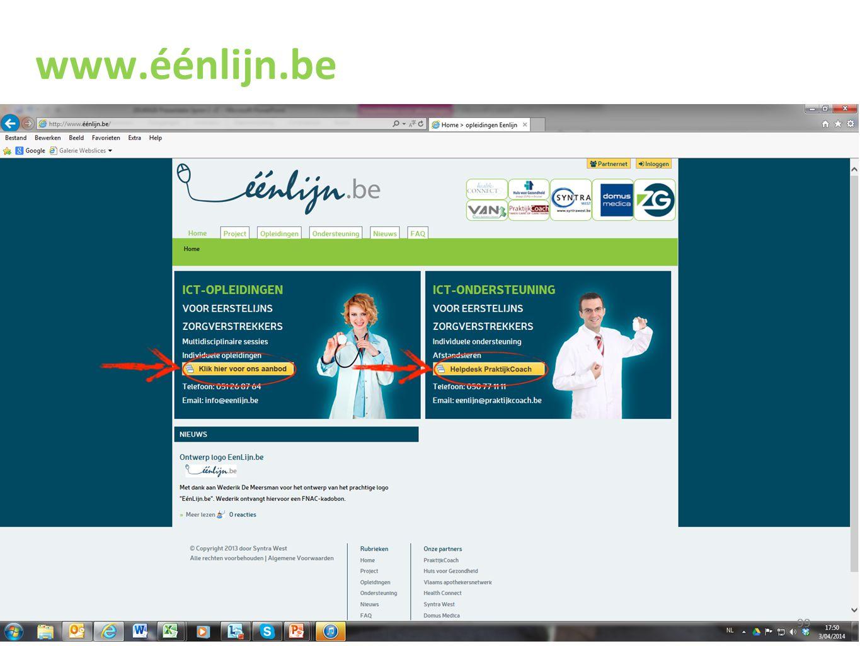 www.éénlijn.be Klik op Opleidingen of Kies een regio