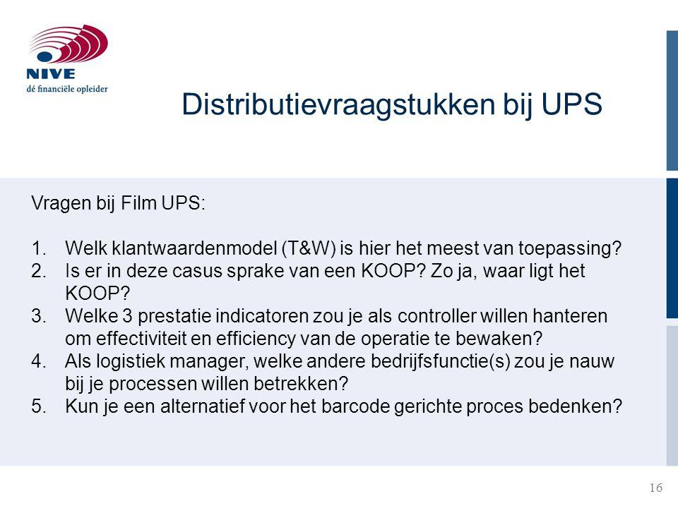 Distributievraagstukken bij UPS