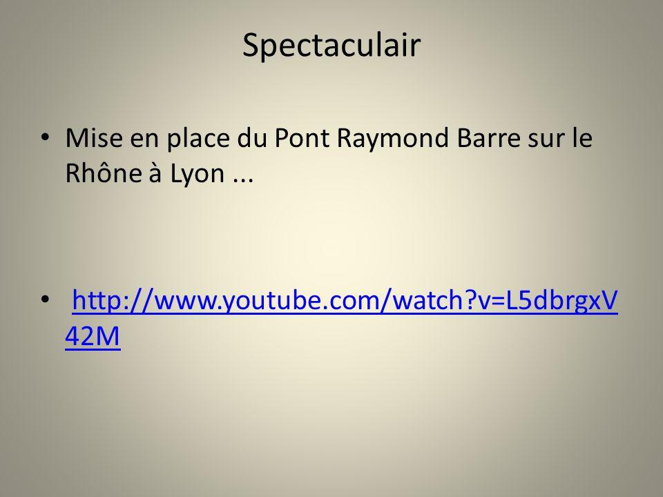Spectaculair Mise en place du Pont Raymond Barre sur le Rhône à Lyon ...