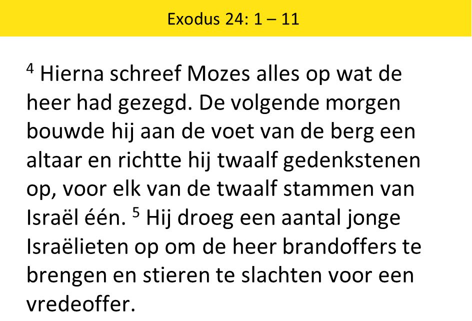 Exodus 24: 1 – 11