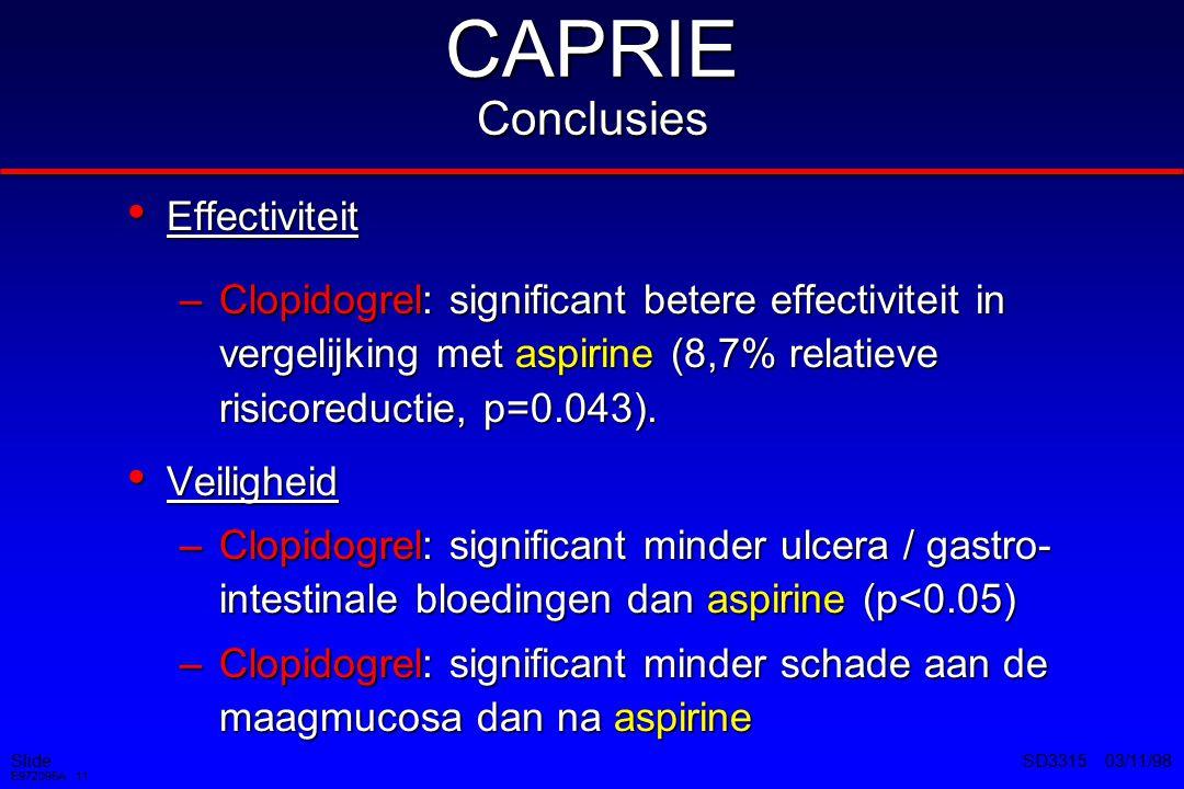 CAPRIE Conclusies Effectiviteit