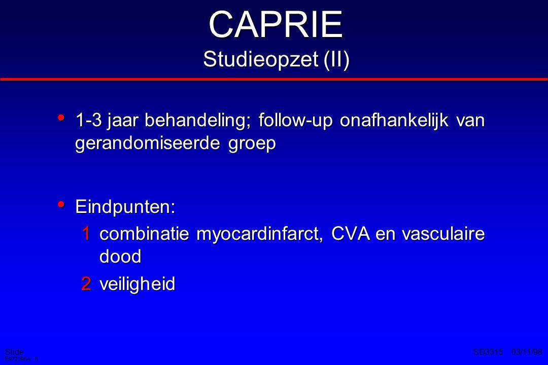 CAPRIE Studieopzet (II)