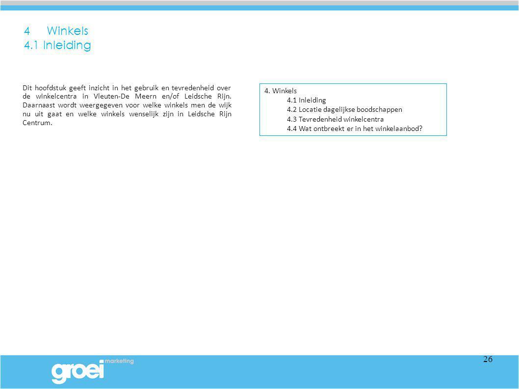 4 Winkels 4.1 Inleiding.