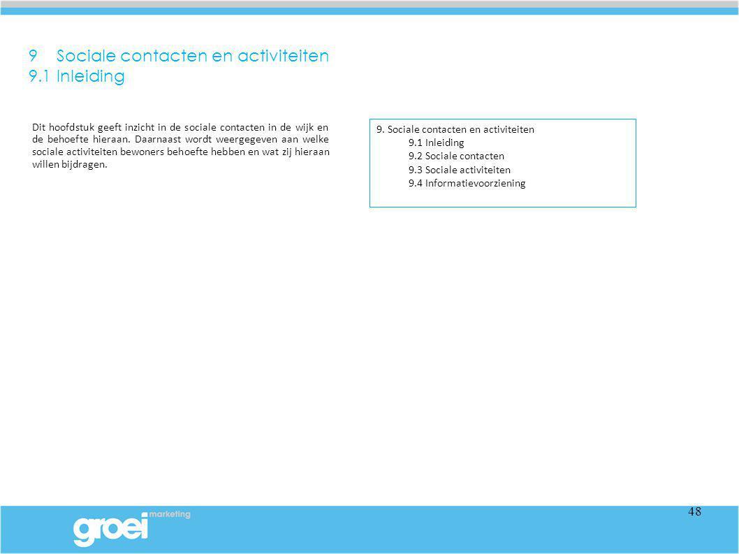 9 Sociale contacten en activiteiten 9.1 Inleiding