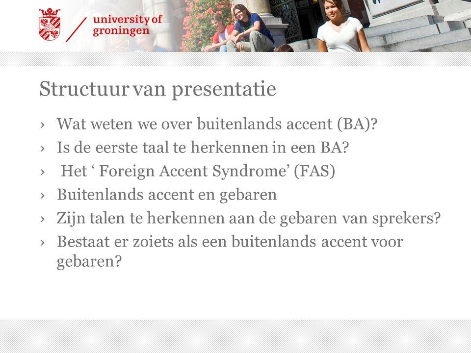 Structuur van presentatie