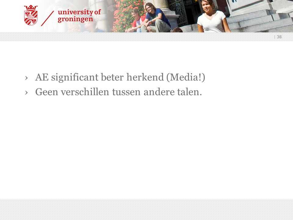 AE significant beter herkend (Media!)