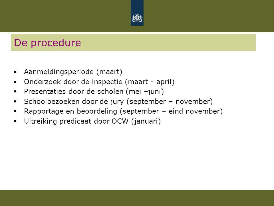 De procedure Aanmeldingsperiode (maart)