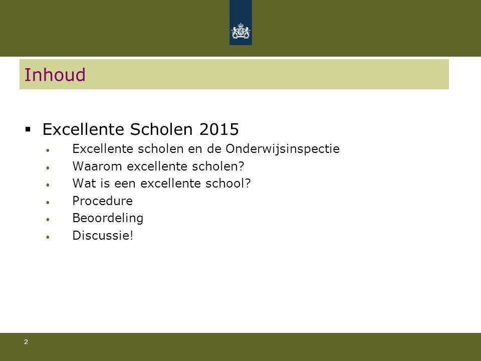 Inhoud Excellente Scholen 2015