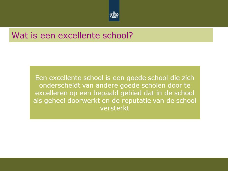 Wat is een excellente school