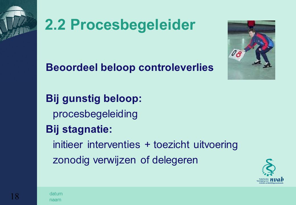 2.2 Procesbegeleider Beoordeel beloop controleverlies