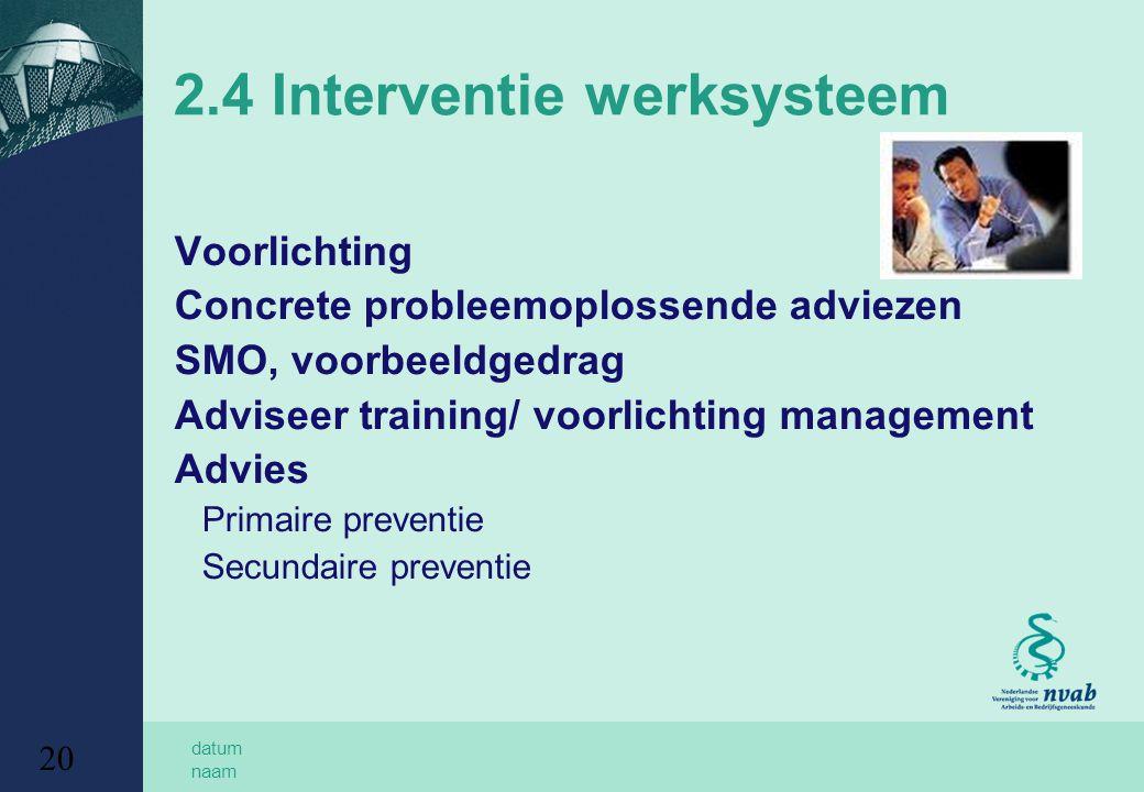 2.4 Interventie werksysteem