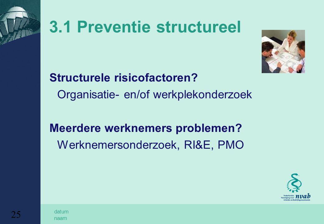 3.1 Preventie structureel