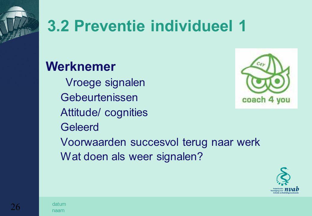 3.2 Preventie individueel 1