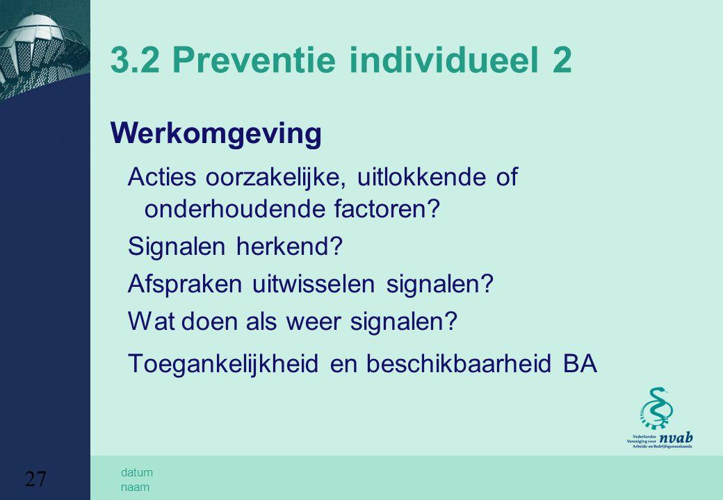 3.2 Preventie individueel 2