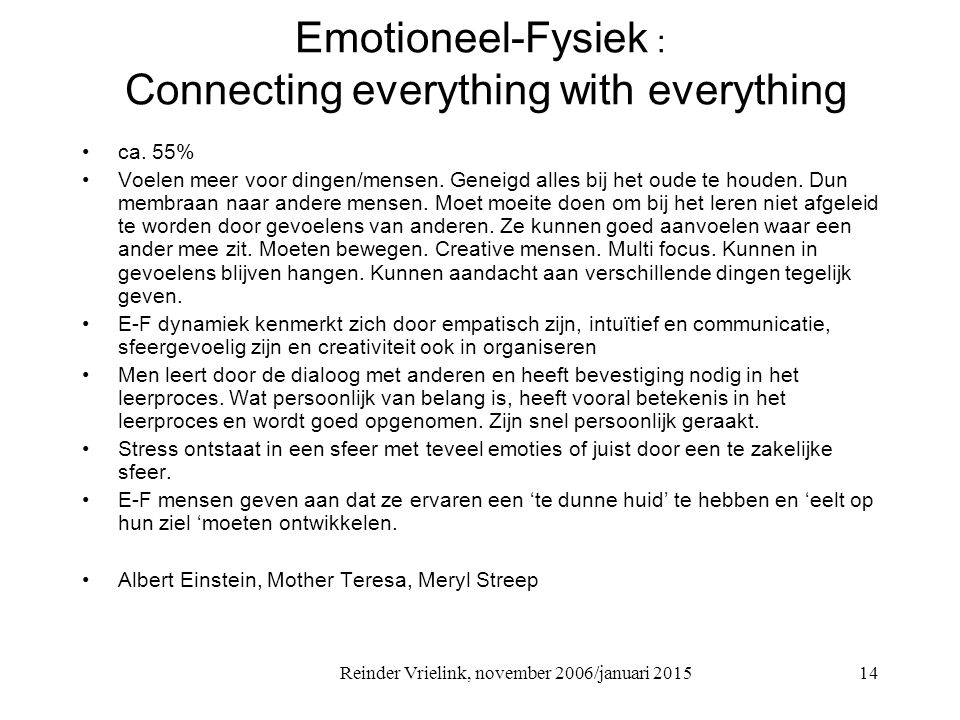 Emotioneel-Fysiek : Connecting everything with everything
