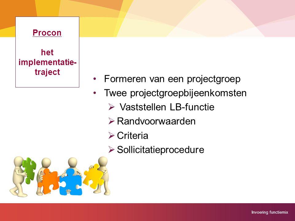 Procon het implementatie- traject