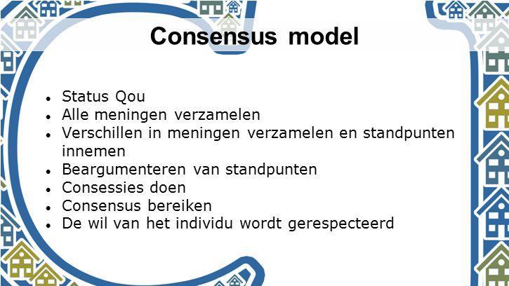 Consensus model Status Qou Alle meningen verzamelen
