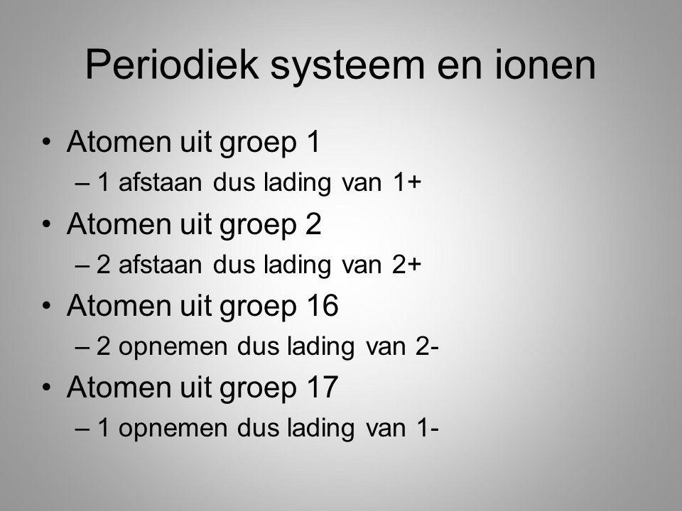 Periodiek systeem en ionen