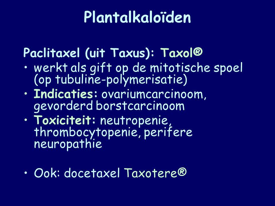 Plantalkaloïden Paclitaxel (uit Taxus): Taxol®