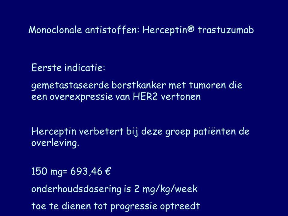 Monoclonale antistoffen: Herceptin® trastuzumab