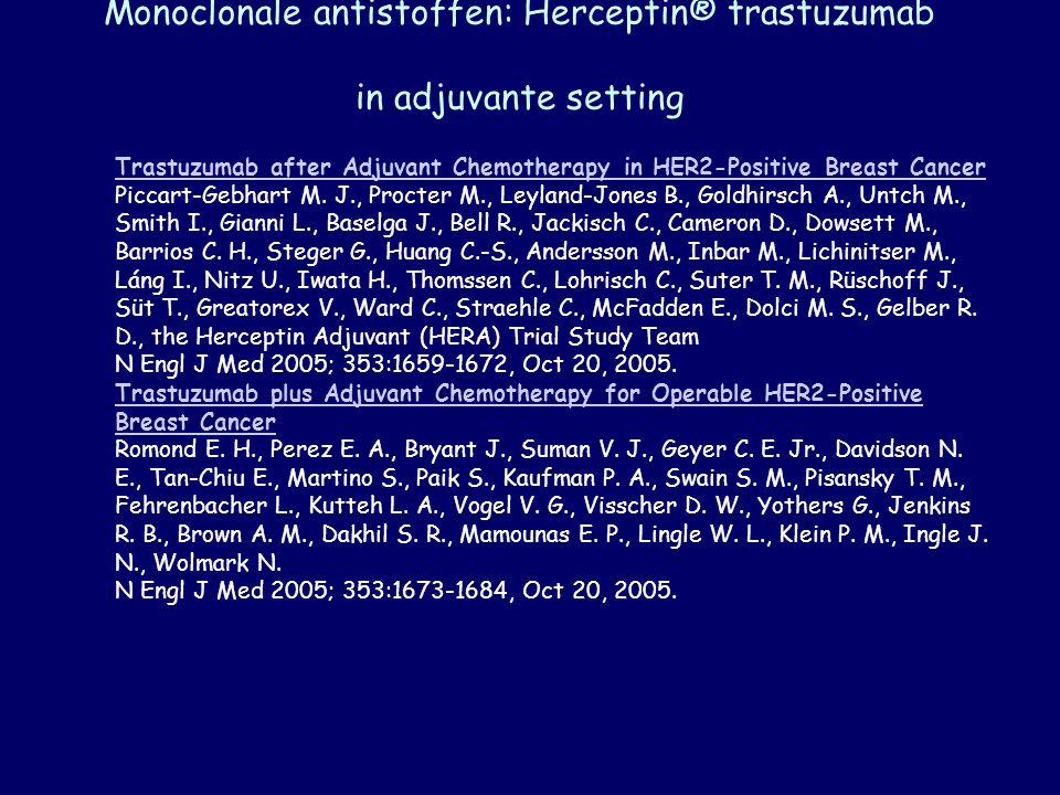 Monoclonale antistoffen: Herceptin® trastuzumab in adjuvante setting