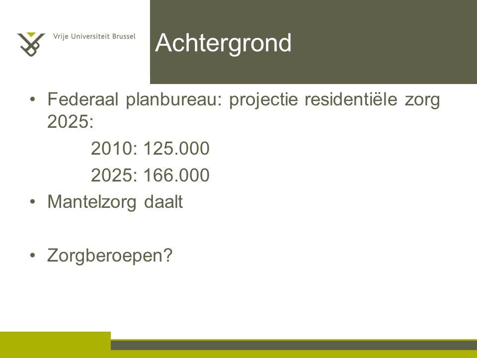 Achtergrond Federaal planbureau: projectie residentiële zorg 2025: