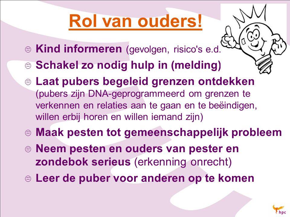 Rol van ouders! Kind informeren (gevolgen, risico s e.d.)