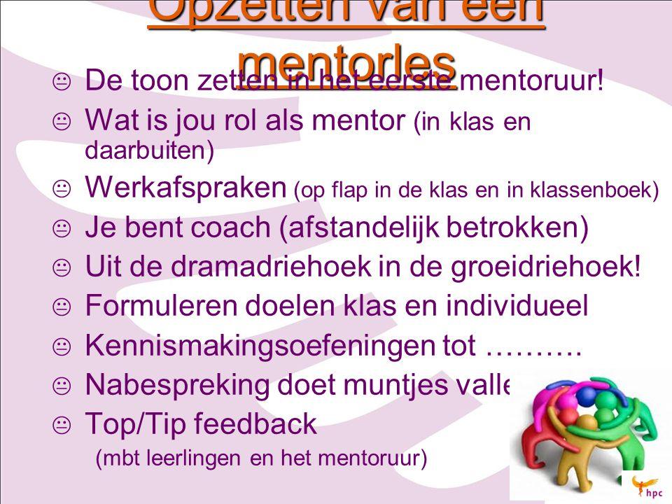 Opzetten van een mentorles