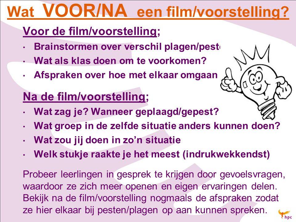 Wat VOOR/NA een film/voorstelling