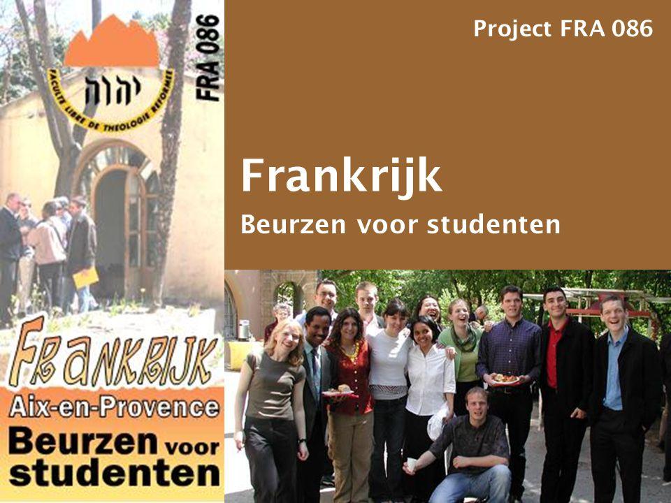 Project FRA 086 Frankrijk Beurzen voor studenten