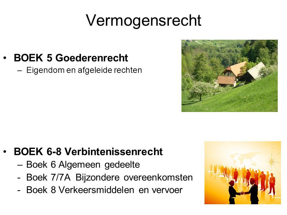 Vermogensrecht BOEK 5 Goederenrecht BOEK 6-8 Verbintenissenrecht