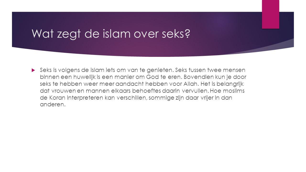 Wat zegt de islam over seks