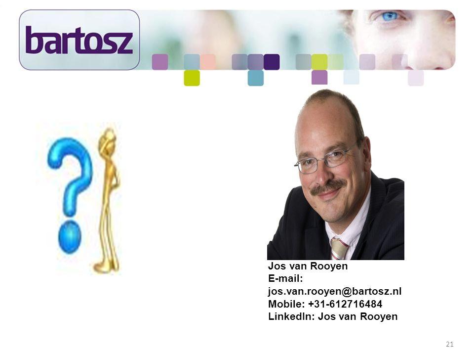 Jos van Rooyen E-mail: jos. van. rooyen@bartosz