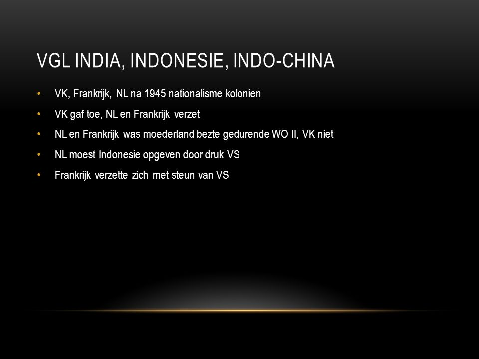 Vgl India, Indonesie, Indo-China