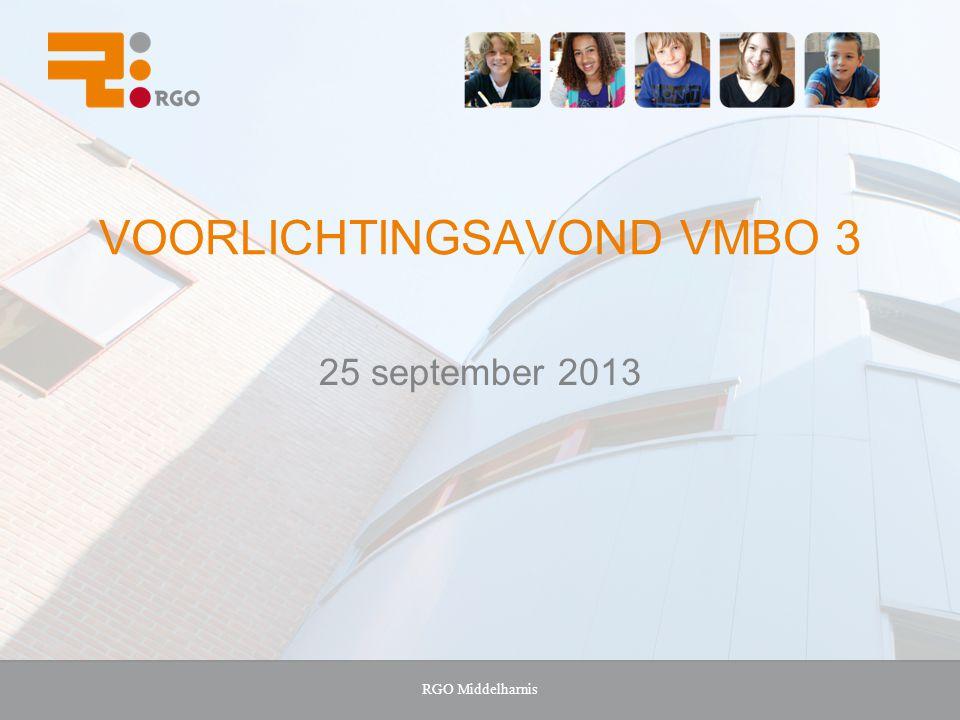 Voorlichtingsavond VMBO 3