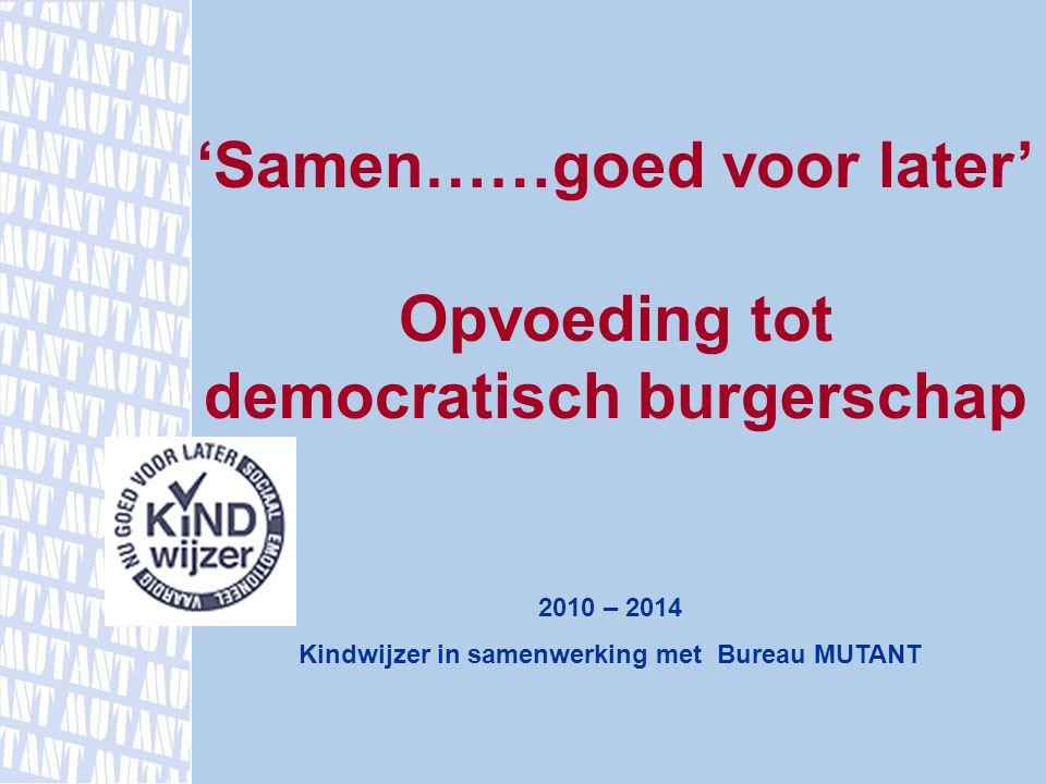 Opvoeding tot democratisch burgerschap