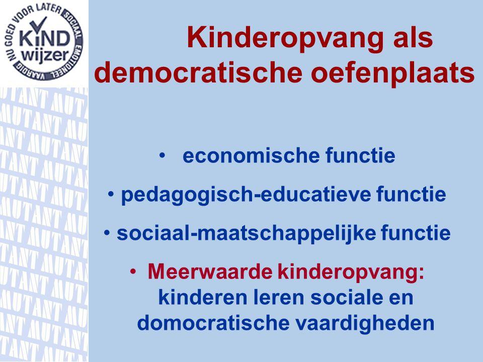 pedagogisch-educatieve functie sociaal-maatschappelijke functie