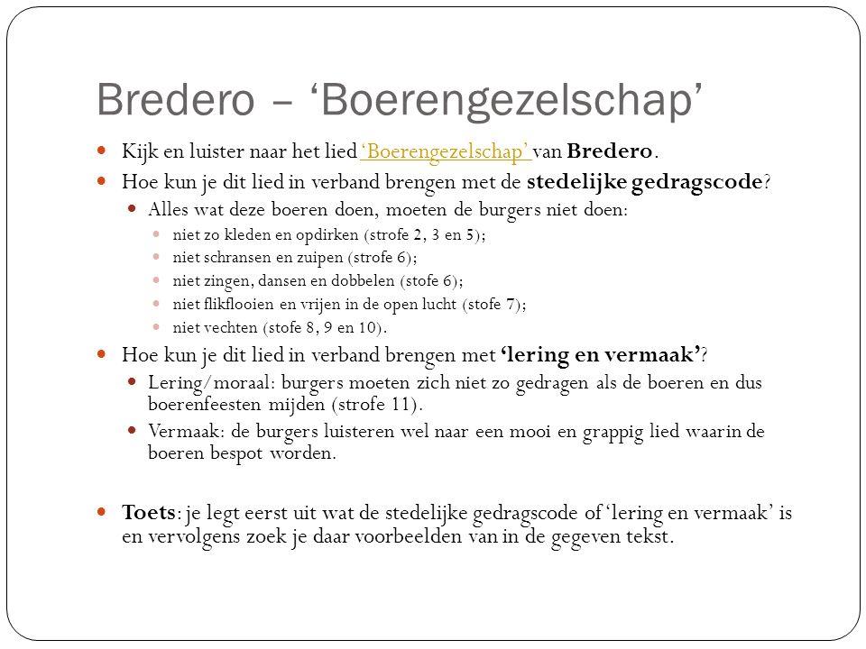 Bredero – 'Boerengezelschap'